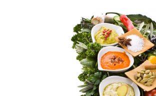 تصویری از چند نوع پوره سبزیجات به همراه سبزیجات مورد استفاده آنها